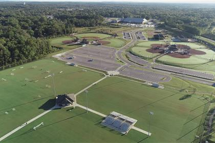 Aerial of Eagle Sports Complex in Calera